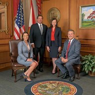 Florida's elected state cabinet is finally meeting again, after nearly four months without
