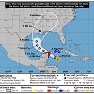 Delta is now a Category 4 hurricane, and part of Florida is still in the cone of uncertainty