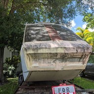 In the front yard of a Pinellas Park home sits a monorail car. This is the story of how it got there