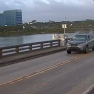 SUV jumps Daytona Beach drawbridge