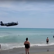 Watch: Malfunctioning plane from Cocoa Beach Air Show makes crash landing in ocean
