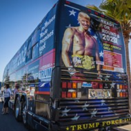 Buckingham Palace responds to Queen's face appearing on 'Trump Train' bus at Matt Gaetz's Florida rally