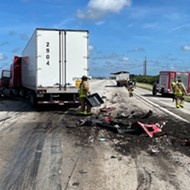 Dump truck spills manure all over I-95, making for a crappy commute