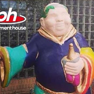 Parliament House seeking return of rainbow monk statue for new downtown location