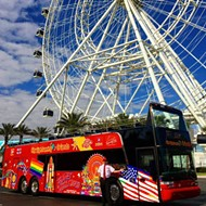 The famous double-decker hop-on, hop-off buses are headed to Orlando