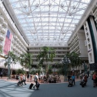 A federal agent shot himself in the foot at Orlando International Airport today
