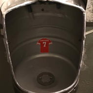 This restaurant in Lakeland has little Kaepernick jerseys in their urinals