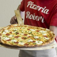 Pizzeria Roberti's dough, made after an in-house ferment, lends their pies an upper crust