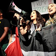 Demonstrators gather in downtown Orlando to protest Trump's Jerusalem decision
