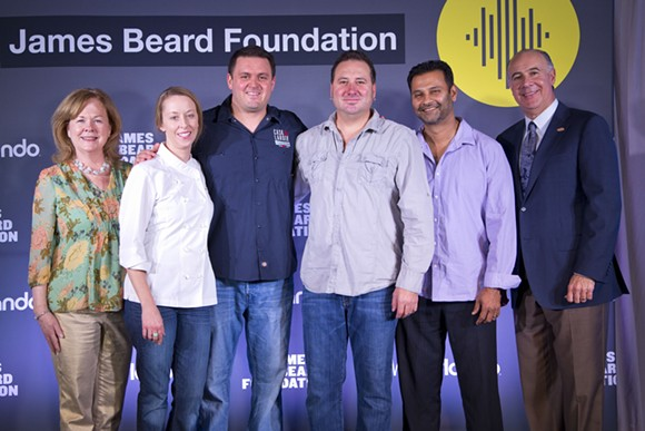 2014 James Beard Award semi-finalists, announced at East End Market, included James and Julie Petrakis, Henry Salgado, and Hari Pulapaka. No Central Florida chefs are semi-finalists for the awards this year. - IMAGE COURTESY VISIT ORLANDO
