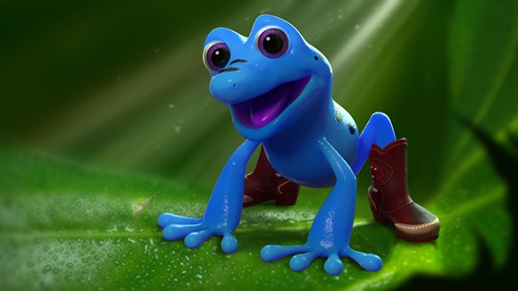 Wizard the Blue Dart Frog - PHOTO VIA ORLANDO ECONOMIC PARTNERSHIP