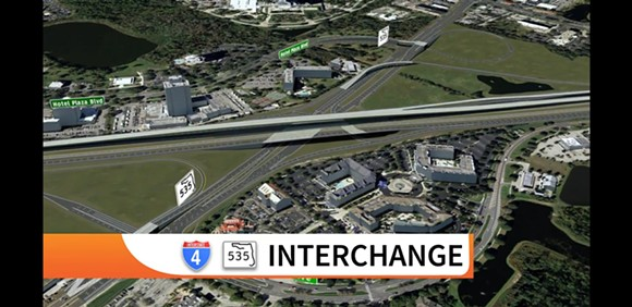 Renderings of the updated Beyond the Ultimate I-4 project - IMAGE VIA FDOT