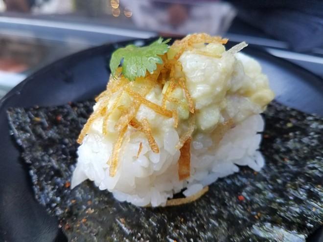 Grouper ceviche hand roll (SushiPop) - FAIYAZ KARA