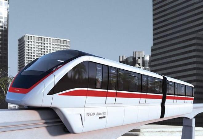 The INNOVIA 300 monorail - IMAGE VIA BOMBARDIER