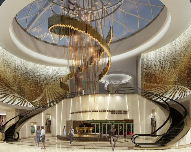 Atrium of the new Seminole Hard Rock Tampa tower - IMAGE VIA SEMINOLE HARD ROCK TAMPA