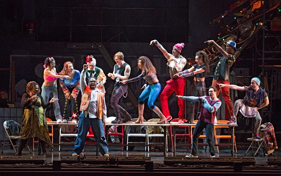 The Company of the RENT 20th Anniversary Tour. - CAROL ROSEGG