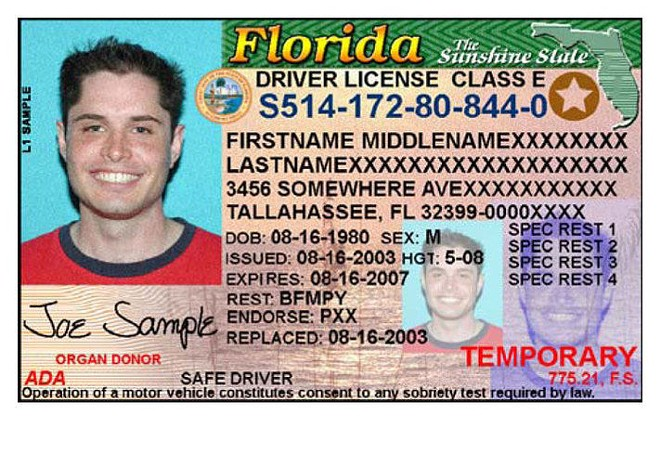 PHOTO VIA FLORIDA DEPARTMENT OF HIGHWAY SAFETY AND MOTOR VEHICLES