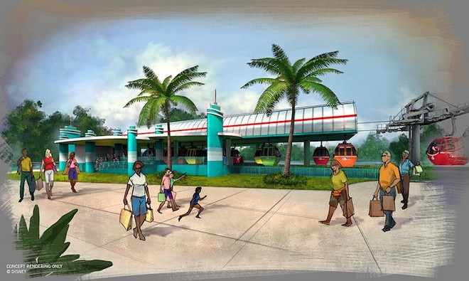 The DHS station for the Disney Skyliner gondola system - PHOTO VIA DISNEY