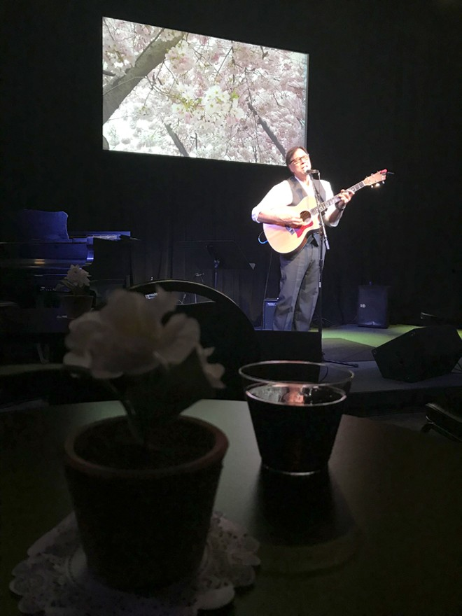 Chris Cortez at the Blue Bamboo