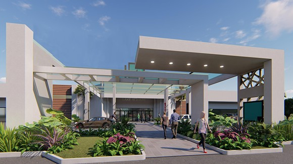 A proposed update to the main entrance of the Lake Square Mall - IMAGE VIA LAKE SQUARE MALL