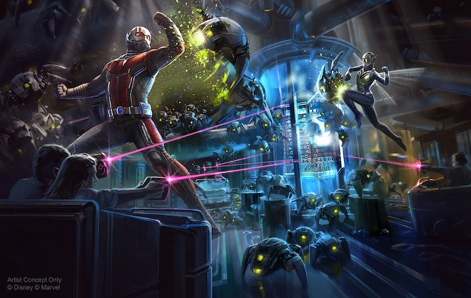 An artist rendering of the upcoming Ant-Man ride slated for Hong Kong Disneyland - IMAGE VIA DISNEY PARKS BLOG
