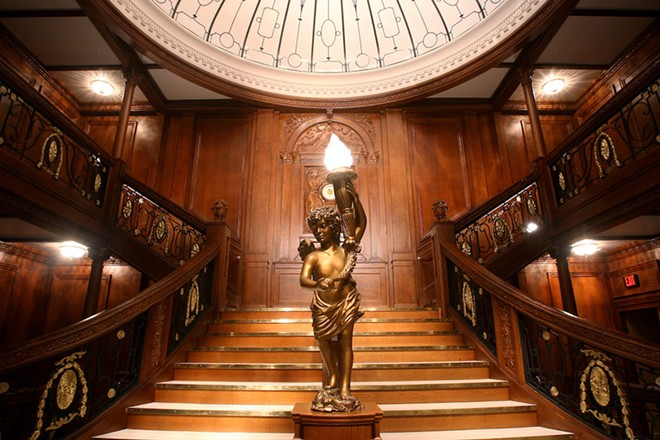 Replica of the Titanic's Grand Staircase