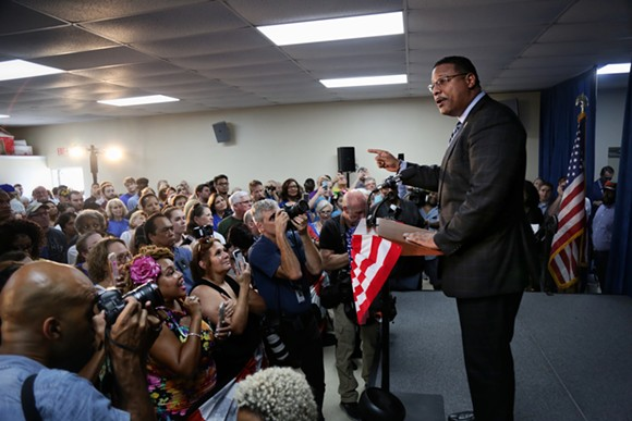 Democratic nominee for Attorney General Sean Shaw - PHOTO BY JOEY ROULETTE