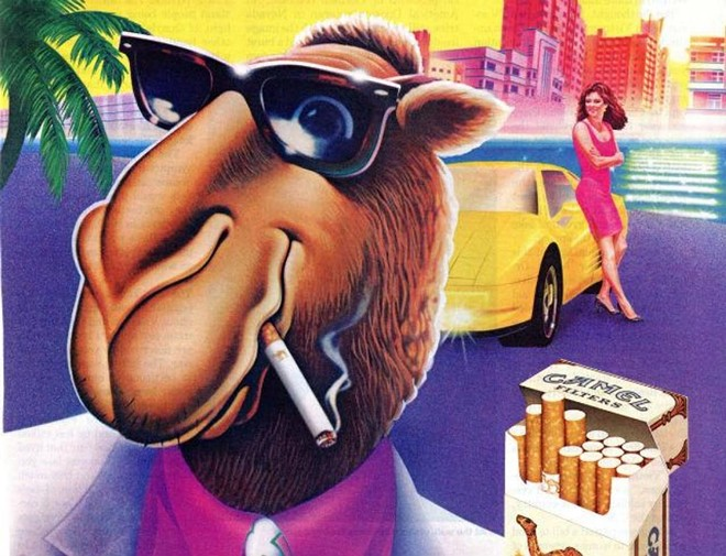 RJ REYNOLDS' JOE CAMEL LURED AMERICANS TO PUFF FROM 1988 TO 1997.