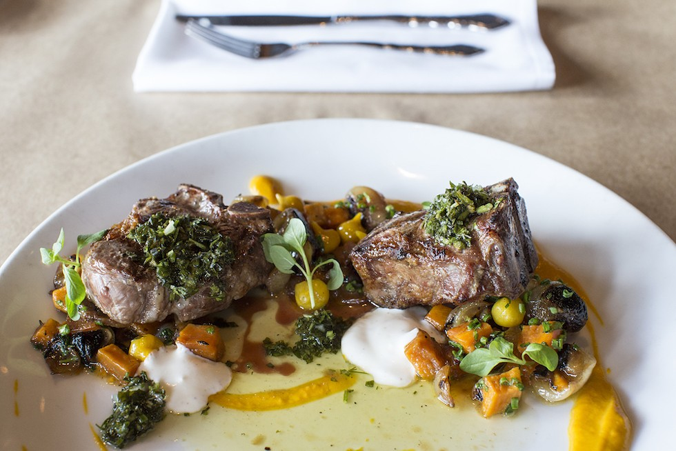 Lamb loin chops, the Ravenous Pig - PHOTO BY ROB BARTLETT
