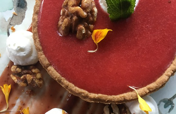 Cranberry-orange tart offered for Thanksgiving dessert at Tapa Toro. - PHOTO COURTESY TAPA TORO