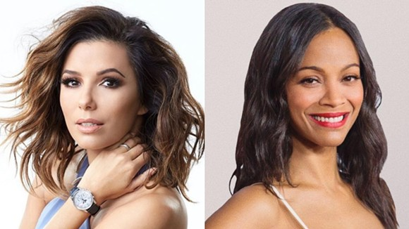 LEFT PHOTO VIA EVA LONGORIA/INSTAGRAM, RIGHT PHOTO VIA ZOE SALDAÑA/FACEBOOK