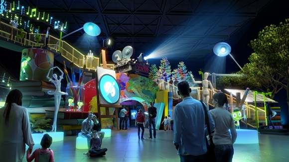 The Art zone within the Experience PBS attraction