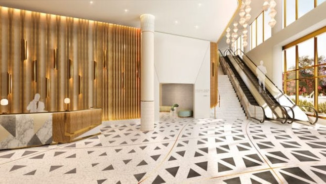 The Cove's main lobby - IMAGE VIA SWAN AND DOLPHIN | TISHMAN