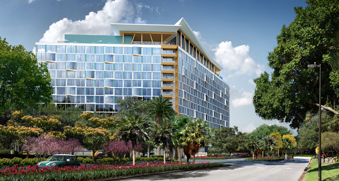 A previous version of the concept art for the upcoming The Cove hotel tower. - IMAGE VIA TISHMAN