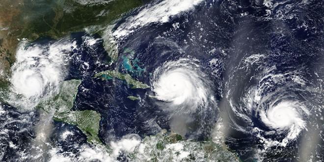 Hurricanes Irma, Jose and Katia in the Carribean Sea and the Atlantic Ocean - PHOTO VIA ADOBE IMAGES