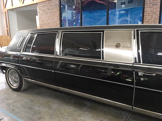 Dezer's Trump limo - PHOTO BY PAUL BRINKMANN