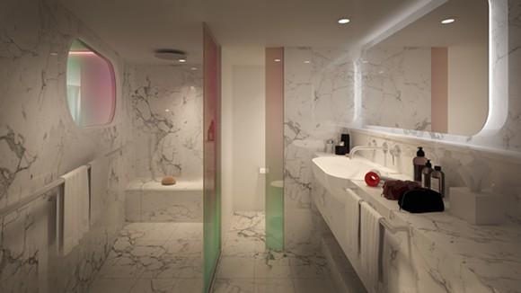 The bathroom in the Posh Suite - IMAGE VIA VIRGIN VOYAGES