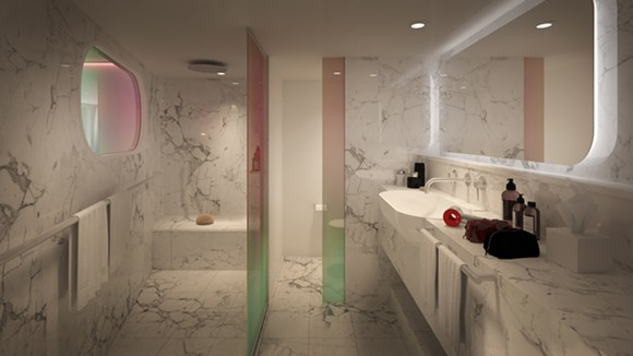 The bathroom in the Posh Suite - IMAGE VIA VIRGIN VOYAGES