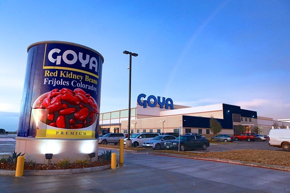 A Goya Foods distribution facility in Texas - PHOTO VIA GOYA FOODS