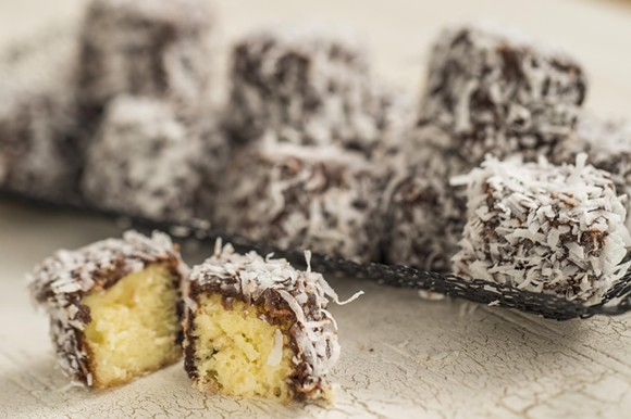 LAMINGTON CAKES, AUSTRALIA MARKETPLACE AT EPCOT FOOD & WINE FEST 2015