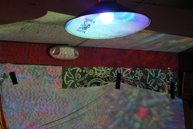 Movin' on up - The new lighting array at Uncle Lou's - ASHLEY BELANGER