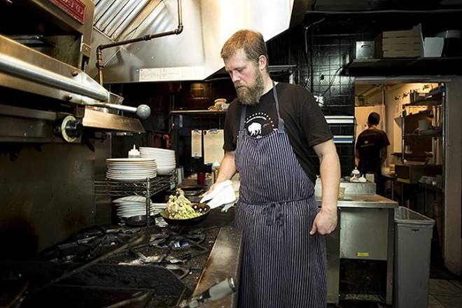 Chef Josh Oakley in his kitchen on Bennett Road - PHOTO BY ROB BARTLETT