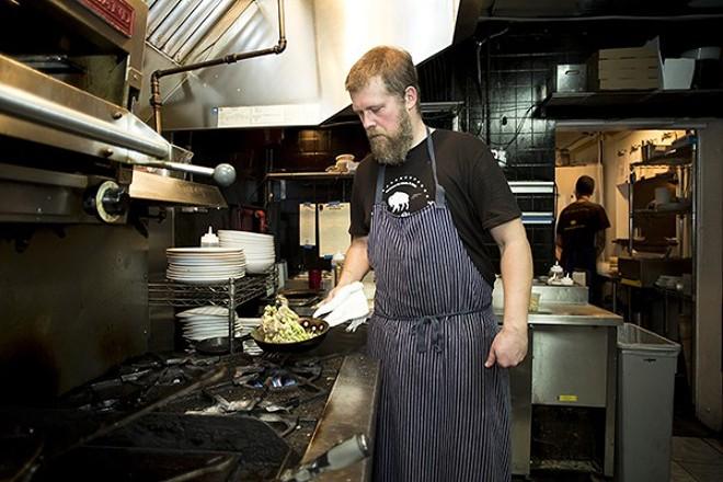 Chef Josh Oakley in his kitchen on Bennett Road - PHOTO BY ROB BARTLETT