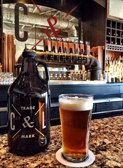 Cask & Larder in Winter Park charges $12 for the branded growler shown here — plus $15 for the Citra-Hopped IPA within. - IMAGE VIA CASK & LARDER ON FACEBOOK