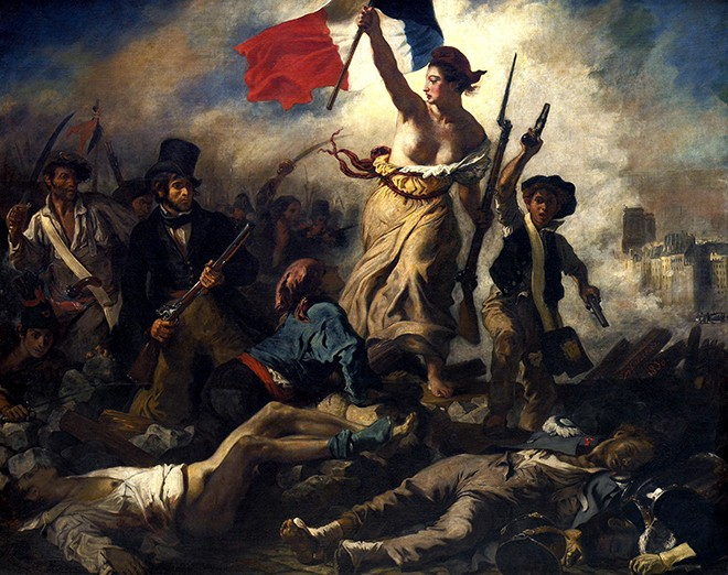 """Liberty leading the people"" - EUGÈNE DELACROIX"
