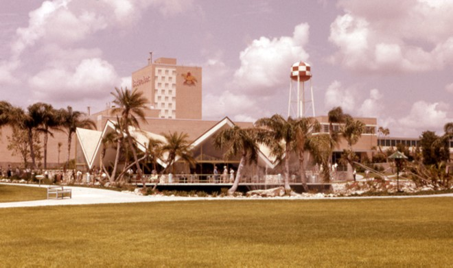 The Hospitality House with the Anheuser Busch brewery in the distance in 1960. - PHOTO BY DON MARKS VIA STATE ARCHIVES OF FLORIDA