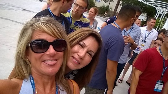 "A photo tagged at the Orlando Citrus Bowl by Tina Romeo with the boasting caption, ""First in line to see Katy Perry ..."""
