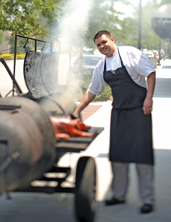 PHOTO OF CHEF JAMES PETRAKIS COURTESY OF THE RAVENOUS PIG