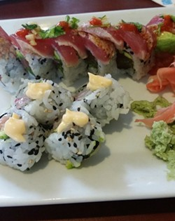 Yellowtail roll and big kahuna roll at Oudom's Mount Dora location - PHOTO VIA YELP