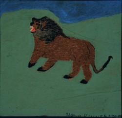 """HAZEL KINNEY, """"LION,"""" ON LOAN FROM CJ WILLIAMS COLLECTION"""